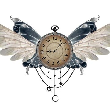 Faerie Winged 13 Hour Clock by MelanieJoy