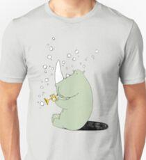 Rhino Blowing Bubbles Unisex T-Shirt