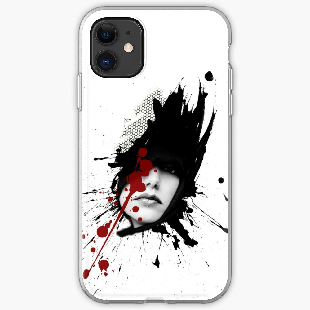 Woman polka trash graphic iPhone Case & Cover
