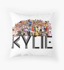 Kylie through the years Throw Pillow