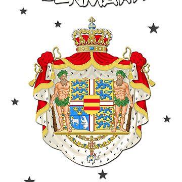 Denmark - Coat of Arms - Flag Design - Oldschool by lemmy666