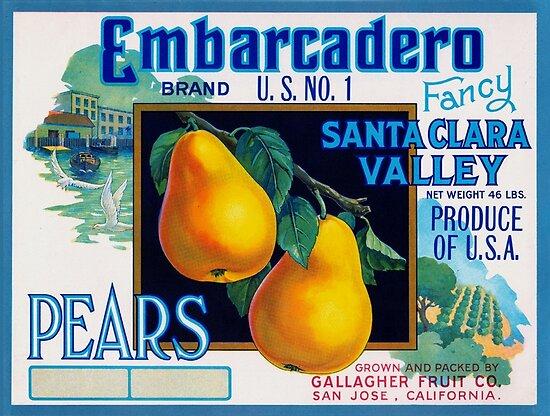 San Jose Bee-N Bee Apple  Fruit Crate Label Art Print
