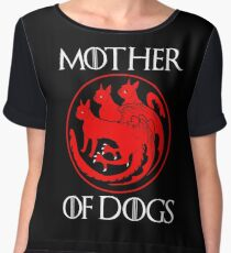 Mother of Dogs - Mother of Boston Terrier  Women's Chiffon Top