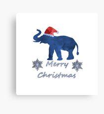 Santa Elephant Canvas Print