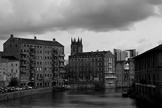 River Aire, Leeds in Yorkhire by newbeltane