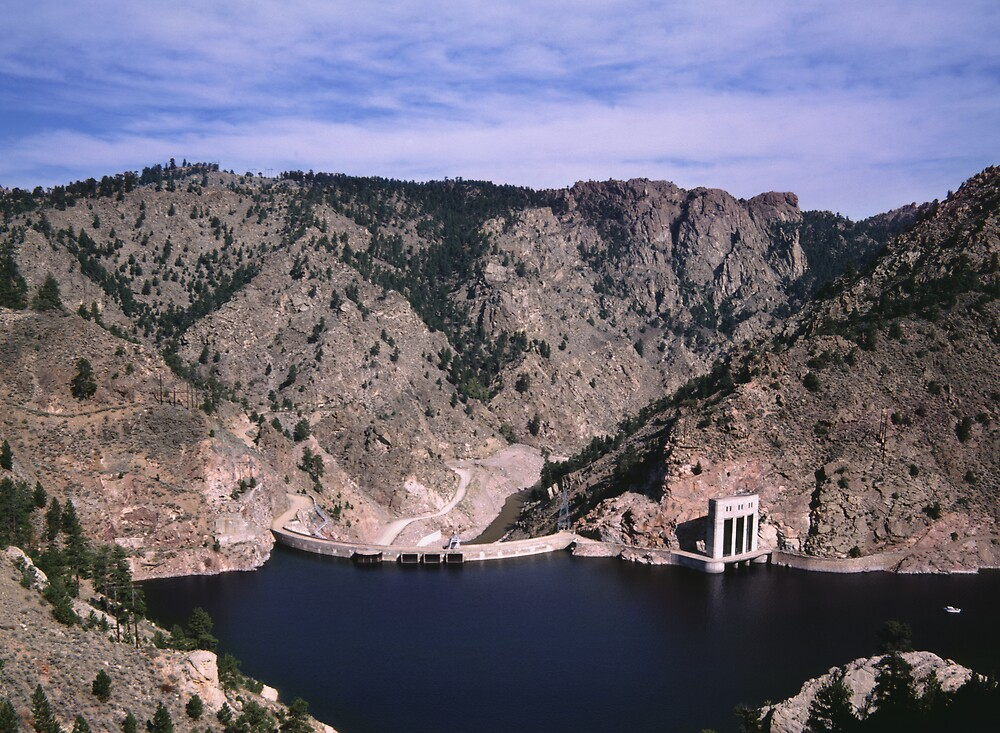 Colorado Lake And Dam by Tex Smock