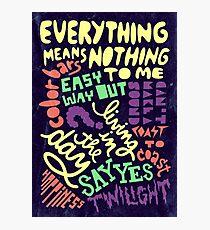 Elliott Smith Song Titles Photographic Print