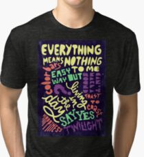 Elliott Smith Song Titles Tri-blend T-Shirt