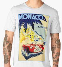 MONACO GRAND PRIX; Vintage Auto Racing Print Men's Premium T-Shirt
