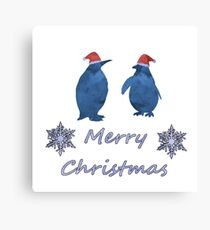 Santa Penguin Canvas Print