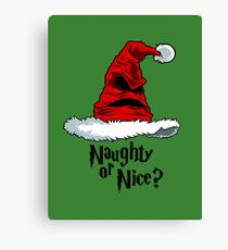 Naughty or Nice? Canvas Print