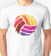 Volleyball Colorful Design  T-Shirt