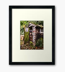 The Old Garden Shed Framed Print