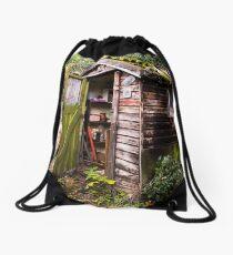 The Old Garden Shed Drawstring Bag