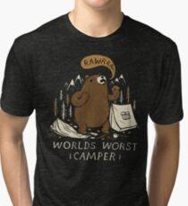 worlds worst camper Tri-blend T-Shirt