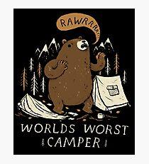 worlds worst camper Photographic Print