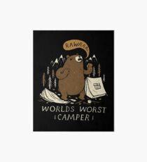 worlds worst camper Art Board