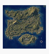 PUBG Map Poster Photographic Print