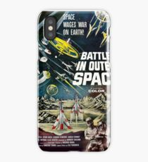 Battle in outer space, vintage Science Fiction movie poster iPhone Case/Skin