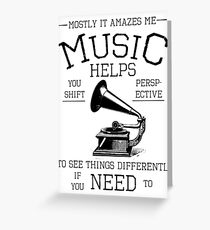 Fringe Music Quote Greeting Card