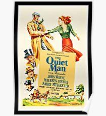 The quiet man, romantic movie poster Poster
