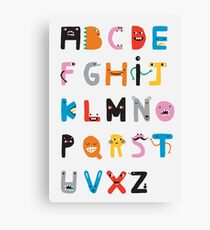 ABC Monster Alphabet  Canvas Print