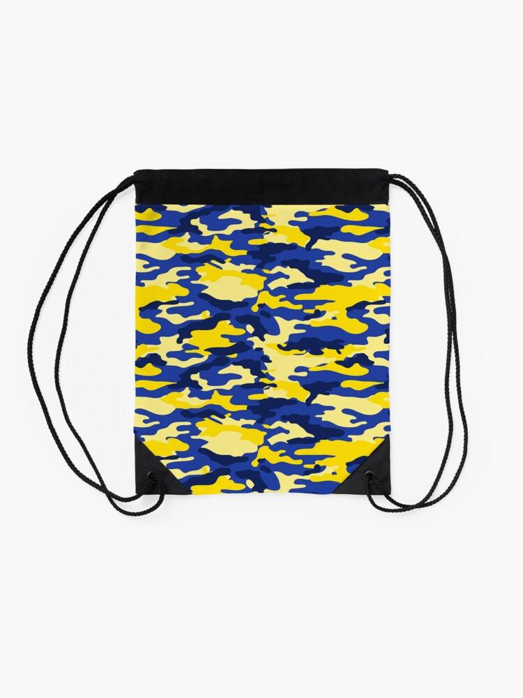 Alternate view of Mich Army Print Drawstring Bag