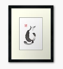 """""""I know that you know"""" sumi-e ink painting Framed Print"""