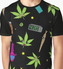 Super awesome Cute Stoner weed stuff Graphic T-Shirt