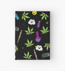 Super awesome Cute Stoner weed stuff Hardcover Journal