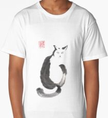 """I know that you know"" sumi-e ink painting Long T-Shirt"