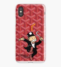 red mono iPhone Case/Skin