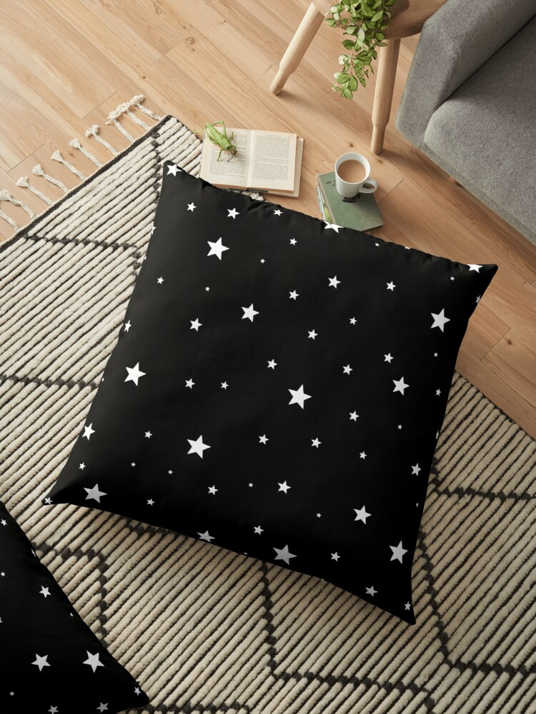 Scattered Stars - white on black by laurabethlove