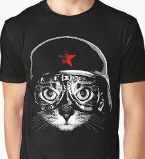 Pilot Kitten Graphic T-Shirt