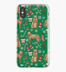 Australian Cattle dog christmas presents stockings candy canes winter dog breed lover iPhone Case/Skin