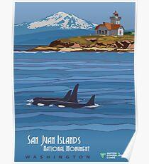 Vintage poster - San Juan Islands Poster
