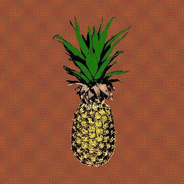 Pineapple Pop Art by Almdrs