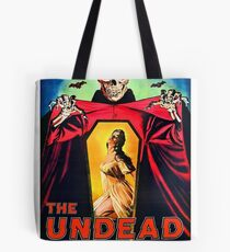 The undead, terror that screams from the grave, horror movie poster Tote Bag