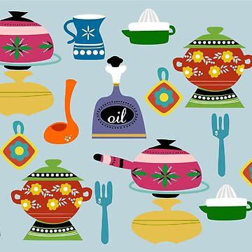 Retro Kitchen by soniapascual