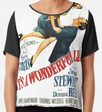 It's a wonderful life, Christmas movie poster Chiffon Top