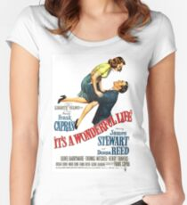 It's a wonderful life, Christmas movie poster Women's Fitted Scoop T-Shirt