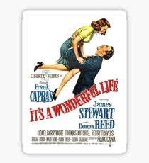 It's a wonderful life, Christmas movie poster Sticker