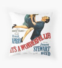It's a wonderful life, Christmas movie poster Throw Pillow