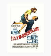 It's a wonderful life, Christmas movie poster Art Print