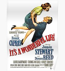 It's a wonderful life, Christmas movie poster Poster