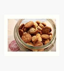 Cookie Jar full of home baked cookies  Art Print
