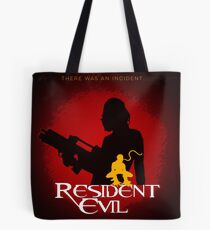 Resident Evil: square minimalist movie poster  Tote Bag