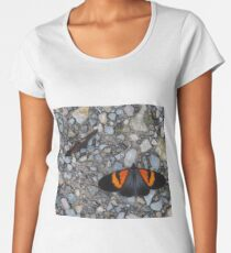 Two black and orange butterflies Women's Premium T-Shirt
