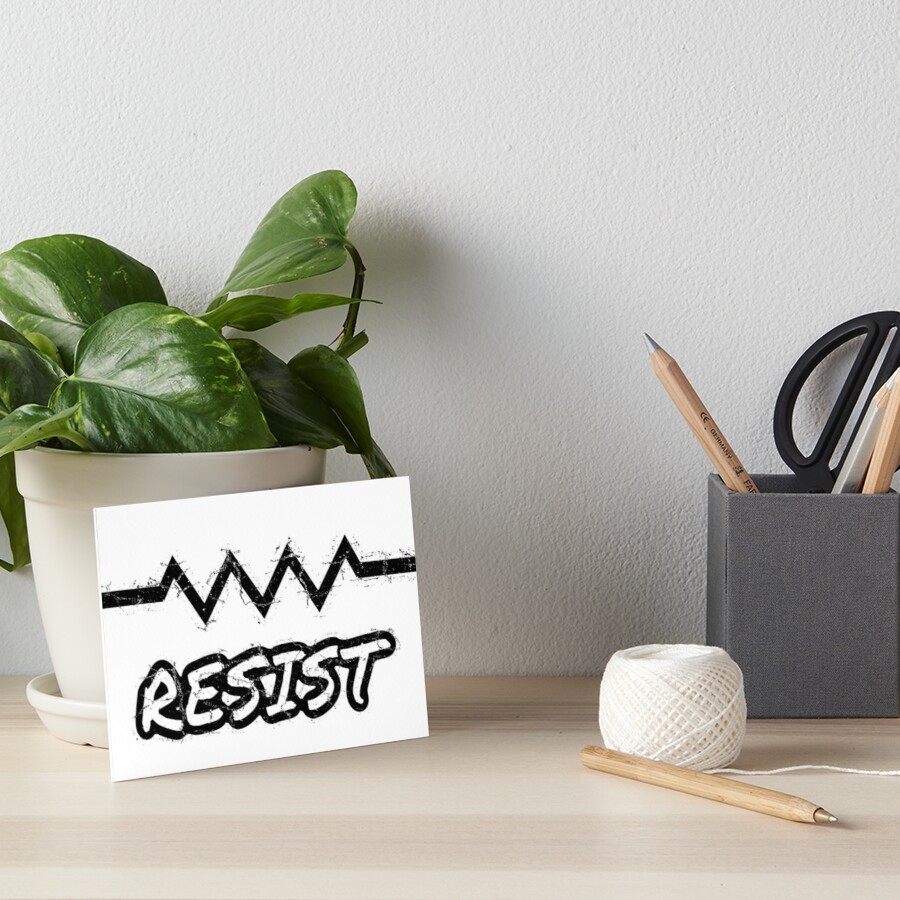 Resist with Electrical Resistor Component Symbol \