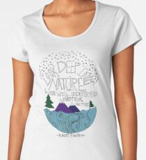 Einstein: Nature Women's Premium T-Shirt
